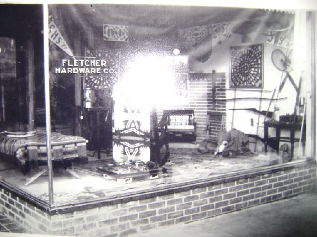 1927 Fletcher Hardware Window Display